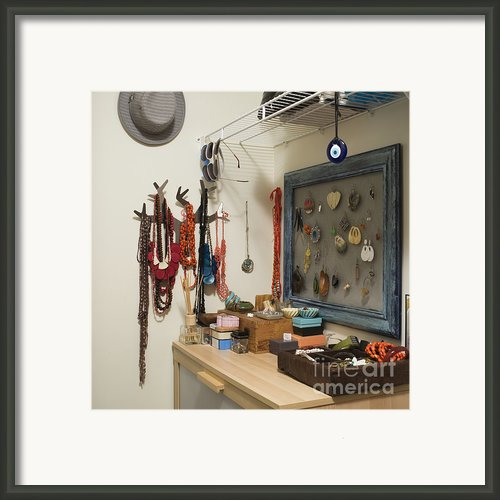 Accessories Storage Framed Print By Ben Sandall