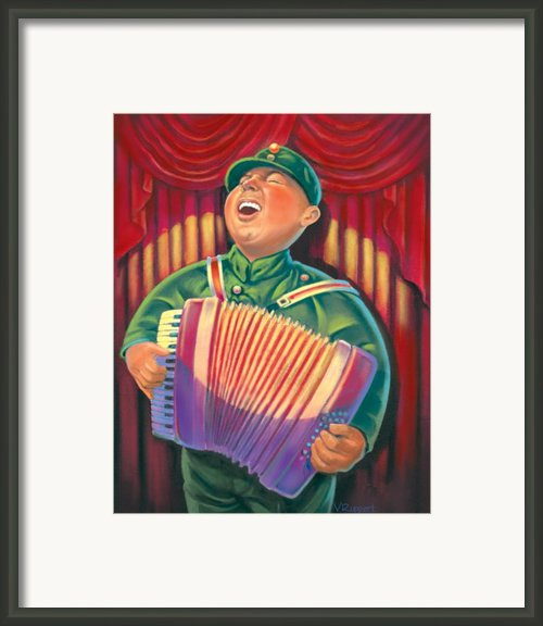 Accordian Player Framed Print By Valerian Ruppert