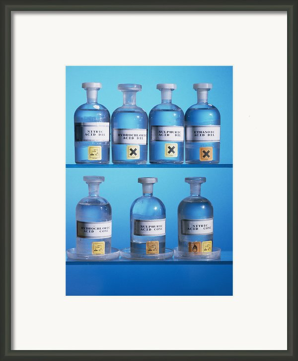 Acid Bottles Framed Print By Andrew Lambert Photography