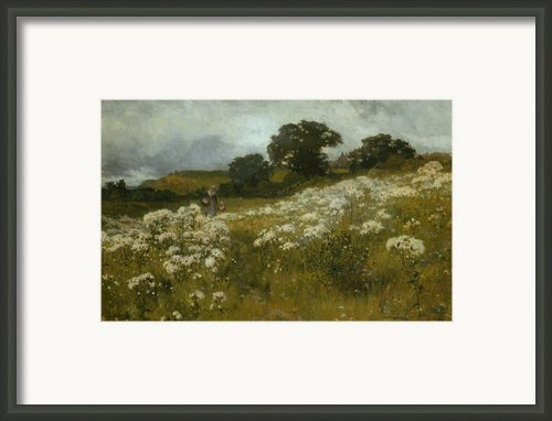 Across The Fields Framed Print By John Mallord Bromley