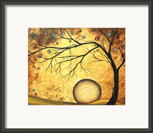 Across The Golden River By Madart Framed Print By Megan Duncanson