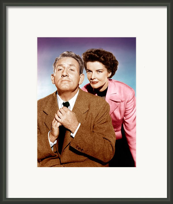 Adams Rib, From Left Spencer Tracy Framed Print By Everett