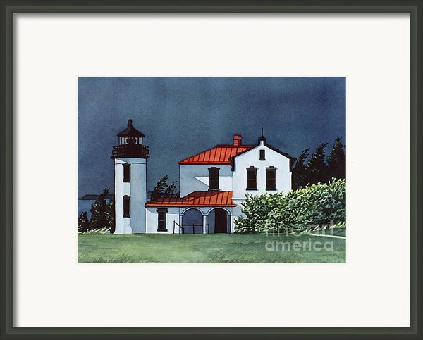 Admiralty Head Light Framed Print By Scott Nelson