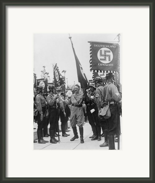 Adolf Hitler With Nazi Storm Troopers Framed Print By Everett