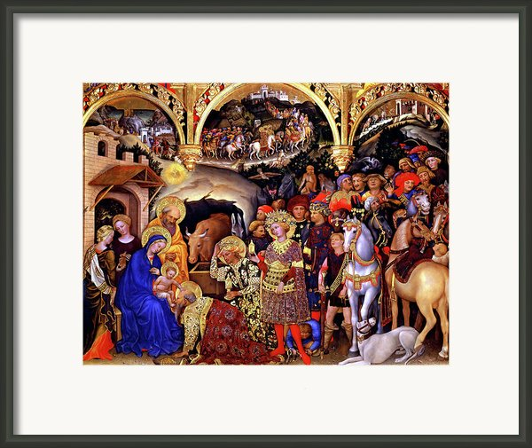 Adoration Of The Kings Framed Print By Gentile Da Fabriano