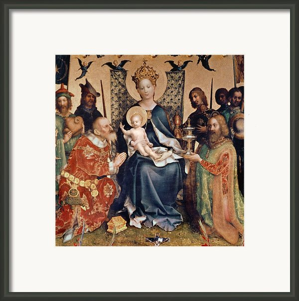 Adoration Of The Magi Altarpiece Framed Print By Stephan Lochner
