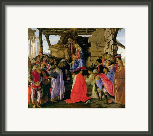 Adoration Of The Magi Framed Print By Sandro Botticelli