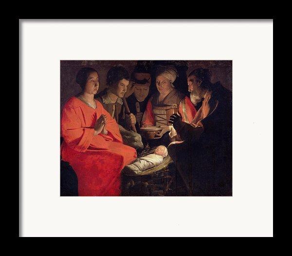Adoration Of The Shepherds Framed Print By Georges De La Tour