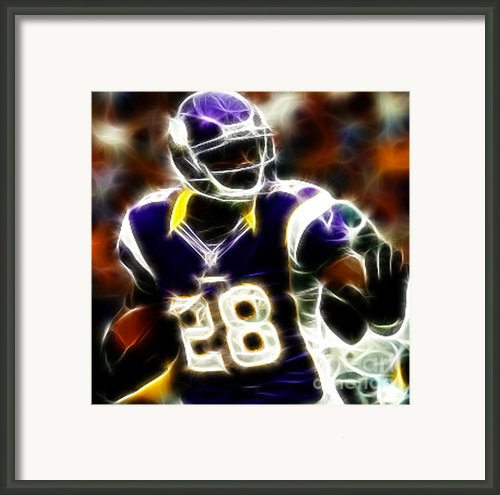 Adrian Peterson 02 - Football - Fantasy Framed Print By Paul Ward