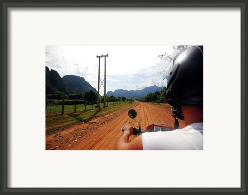 Adventure Motorbike Trip In Laos Framed Print By Thepurpledoor