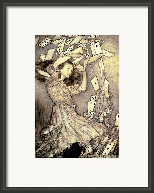 Adventures In Wonderland Framed Print By Arthur Rackham