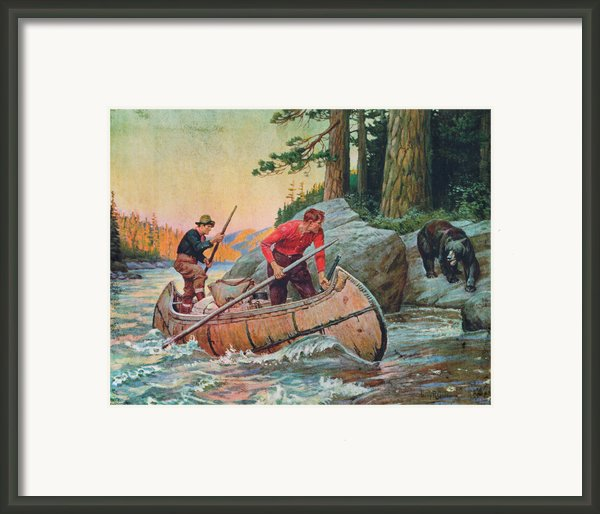 Adventures On The Nipigon Framed Print By Jq Licensing
