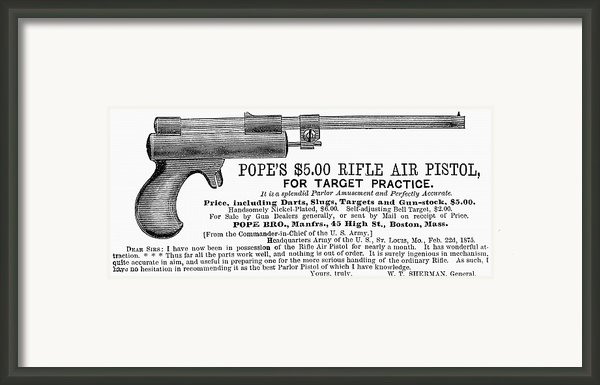 Advertisement: Air Pistol Framed Print By Granger