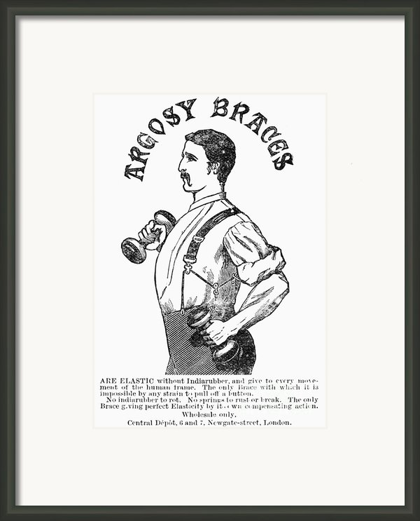 Advertisement: Suspenders Framed Print By Granger