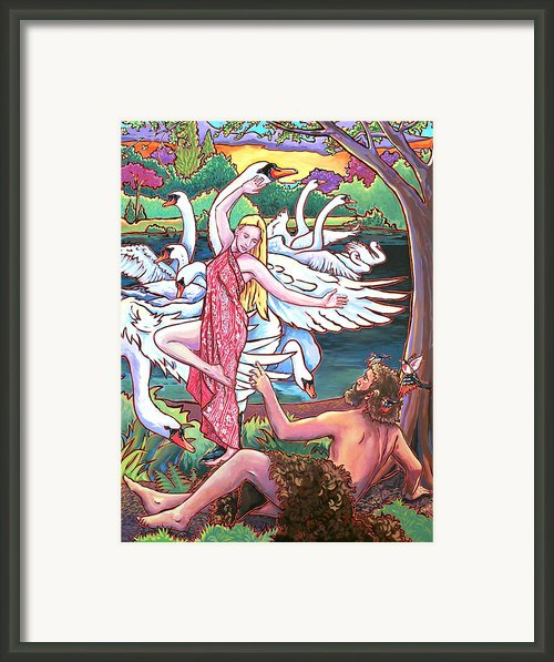 Aengus And Caer Framed Print By Nadi Spencer