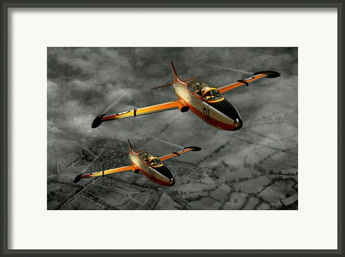 Aermacchi In Flight Framed Print By Steven Agius
