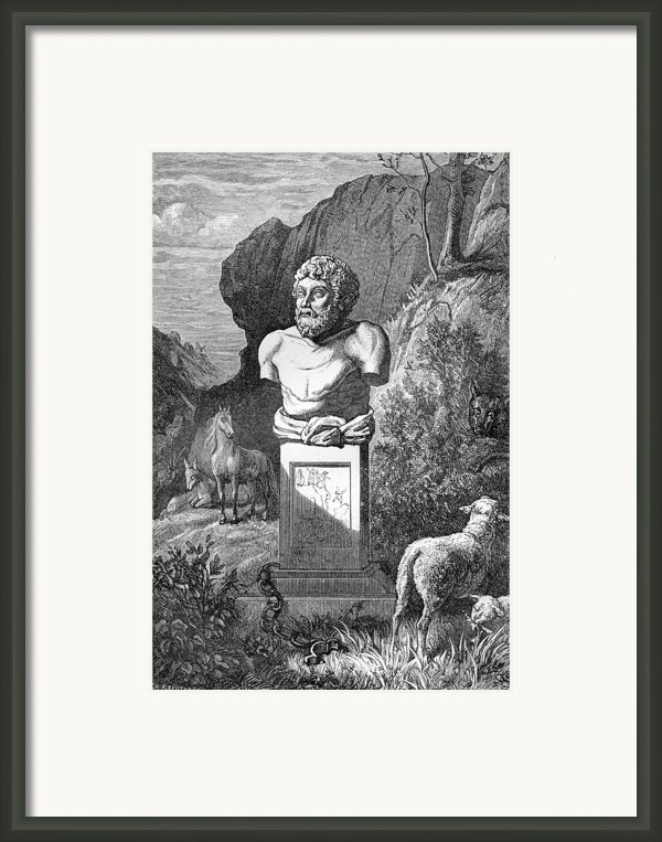 Aesop, Ancient Greek Fabulist Framed Print By