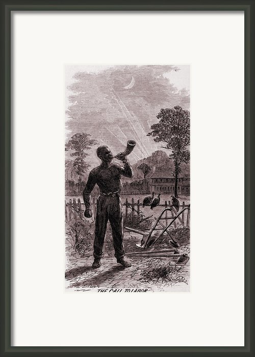 African American Blowing The Wake-up Framed Print By Everett