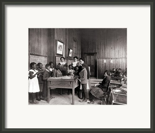 African American Children Learning Framed Print By Everett