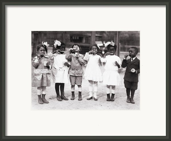African American First Graders Learn Framed Print By Everett