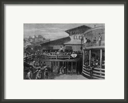 African American Passengers Leaving Framed Print By Everett