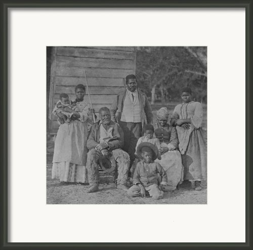 African American Slave Family Framed Print By Everett