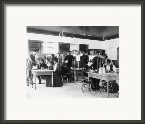 African American Students In A Class Framed Print By Everett