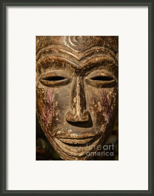 African Tribal Mask. Framed Print By John Greim
