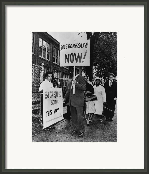 Africans American Protest School Framed Print By Everett
