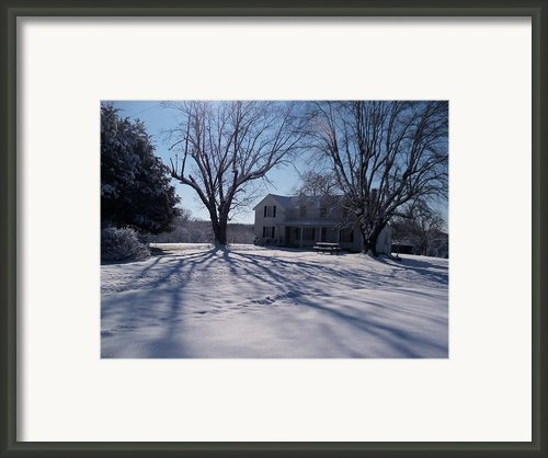 After Snow  Framed Print By Maria Blumberg