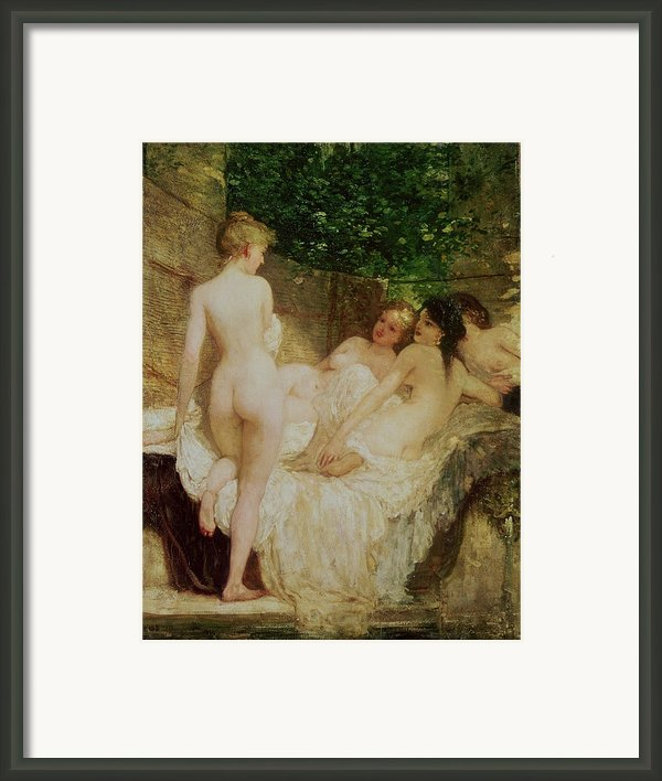 After The Bath Framed Print By Karoly Lotz