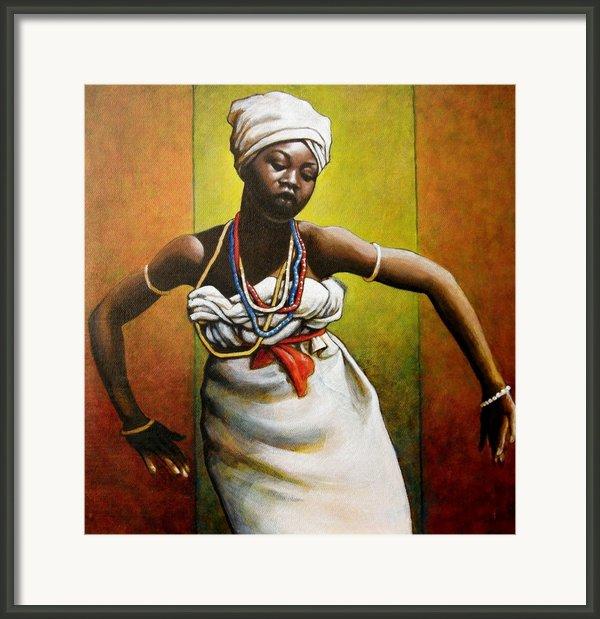 Agbadza Dancer Framed Print By Carla Nickerson