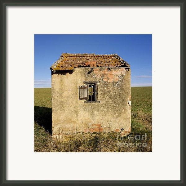 Aged Hut In Auvergne. France Framed Print By Bernard Jaubert