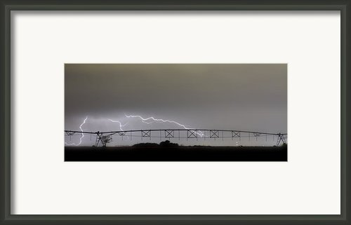 Agricultural Irrigation Lightning Bolts Framed Print By James Bo Insogna