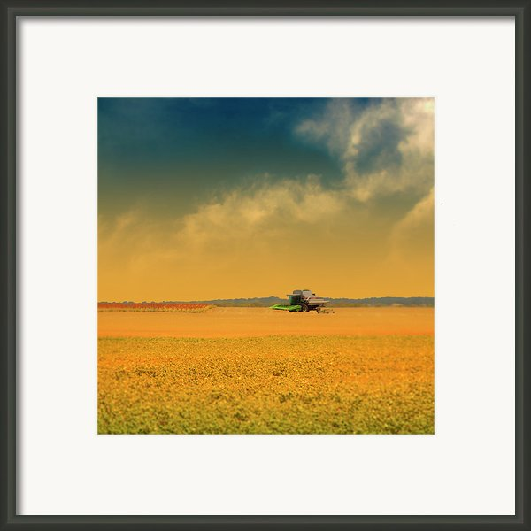 Agricultural Landscape At Sunrise Framed Print By Photo By Jim Norris