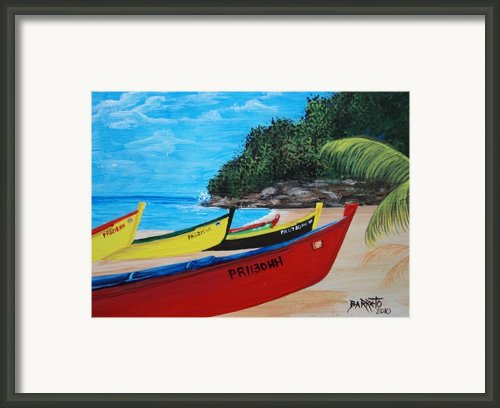 Aguadilla Crashboat Beach Framed Print By Gloria E Barreto-rodriguez