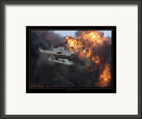 Ah1w Super Cobra Framed Print By Larry Mcmanus