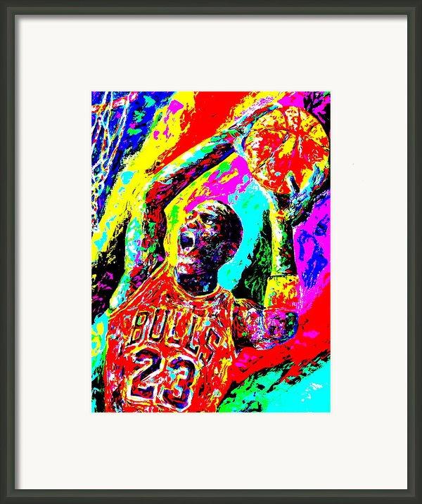 Air Jordan Framed Print By Mike Obrien