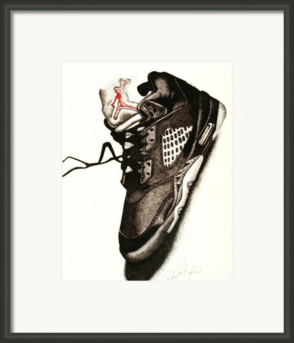 Air Jordan Framed Print By Robert Morin