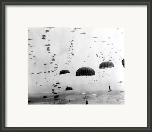 Airborne Mission During Ww2  Framed Print By War Is Hell Store