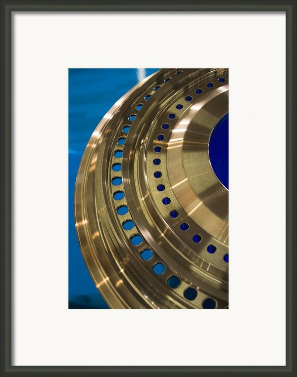 Aircraft Engine Component Framed Print By Mark Williamson