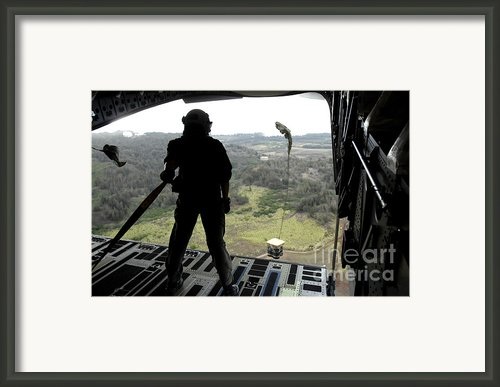 Airman Watches A Practice Bundle Fall Framed Print By Stocktrek Images
