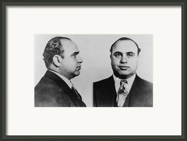 Al Capone 1899-1847, Prohibition Era Framed Print By Everett