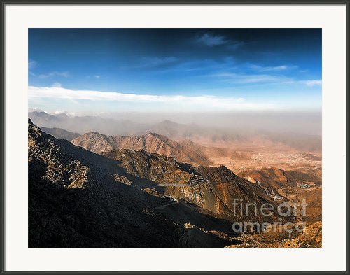 Al Hada Road In Taif Framed Print By Graham Taylor