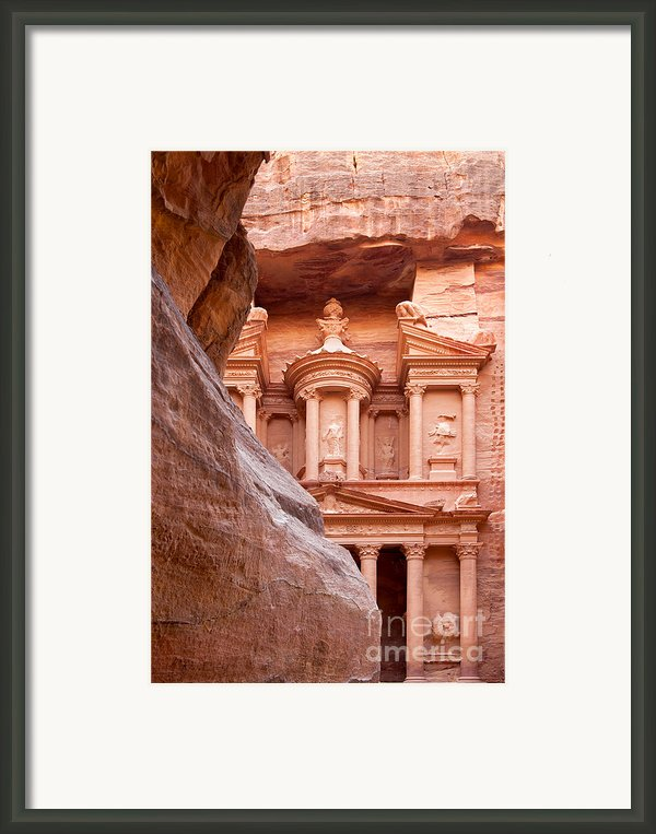 Al-khazneh Framed Print By Jane Rix