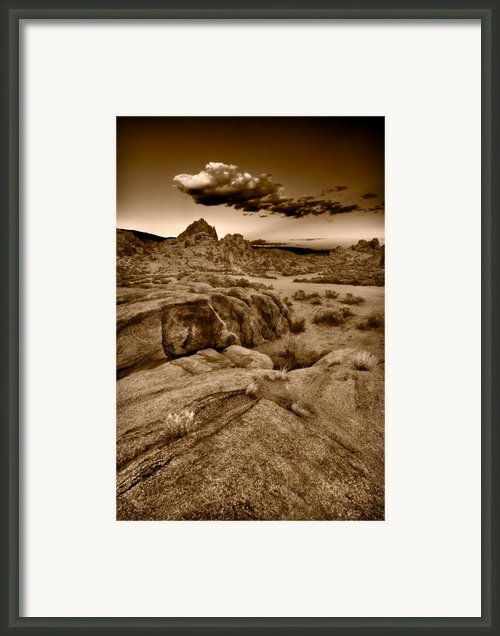 Alabama Hills California B W Framed Print By Steve Gadomski