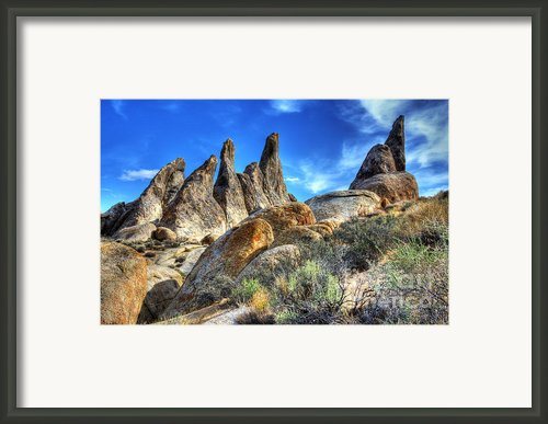 Alabama Hills Granite Fingers Framed Print By Bob Christopher