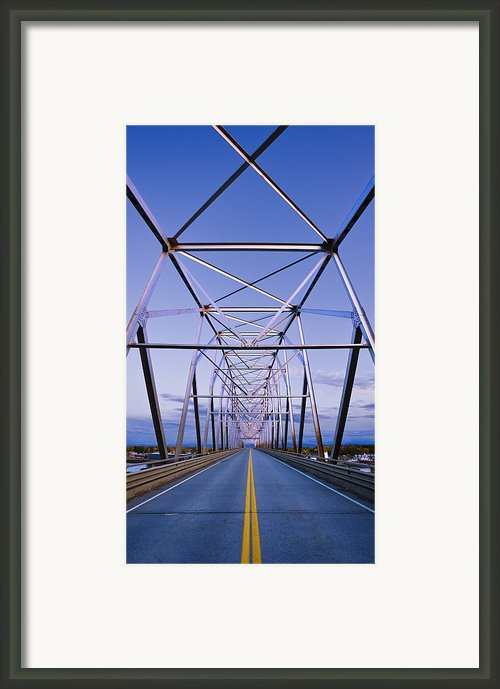 Alaska Native Veterans Honor Bridge Framed Print By Yves Marcoux