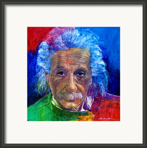 Albert Einstein Framed Print By David Lloyd Glover