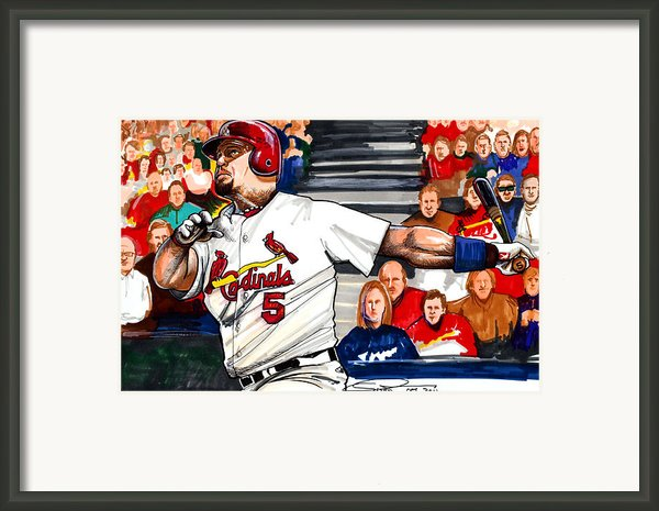 Albert Pujols Framed Print By Dave Olsen